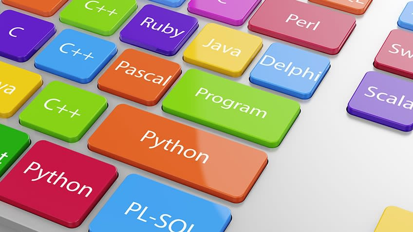 Programming coding languages.